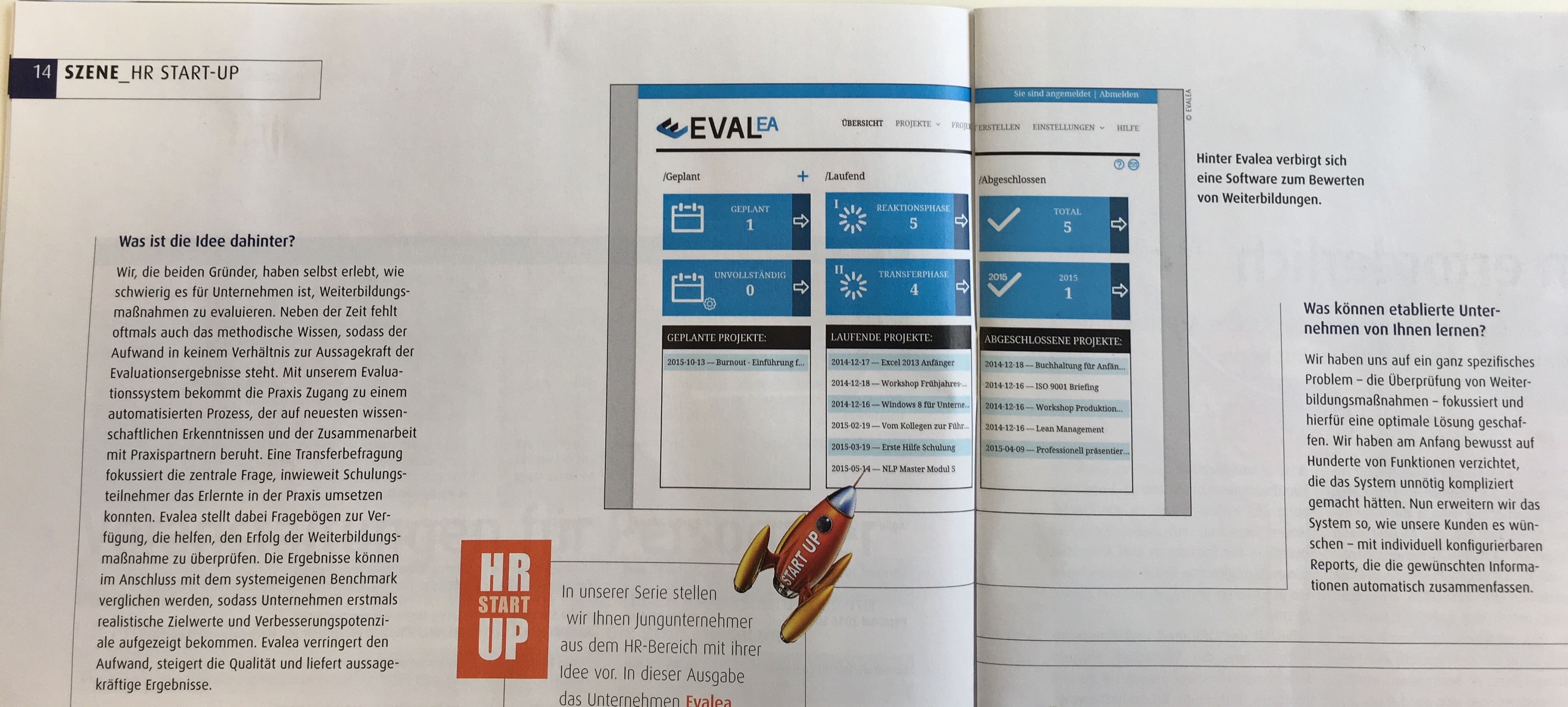 Evalea im Personalmagazin